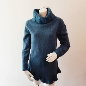 Soft Surroundings Teal Asymetrical Sweater